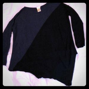 Asymmetrical sweater by Matty M